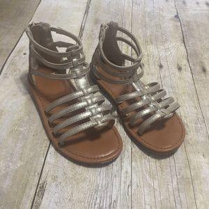 Girls gladiator sandals in excellent condition!
